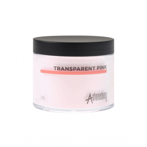Astonishing Acrylique Poudre Transparent Pink 100 gr