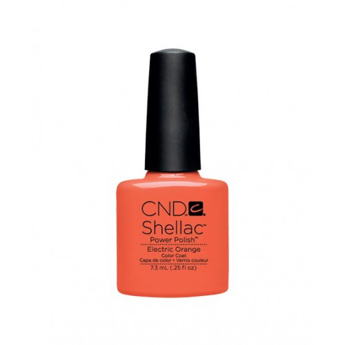 Vernis semi-permanent CND Shellac Electric Orange 7.3 ml